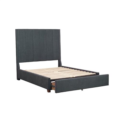 Eastern King Platform Bed with Storage Footboard