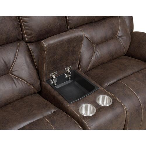 Aria 3-Piece Dual-Power Reclining Sectional, Saddle Brown