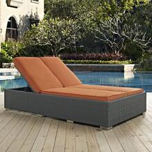 Sojourn Outdoor Patio Sunbrella® Double Chaise in Chocolate Tuscan