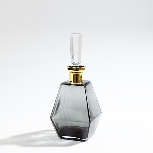 Smoke Decanter w/Gold Neck