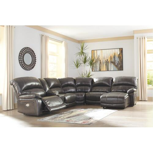 Hallstrung 6-piece Power Reclining Sectional With Chaise
