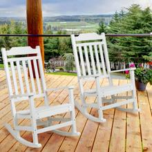Set of 2 Winston All-Weather Rocking Chair in White Faux Wood