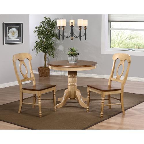 Round Dining Set w/Napoleon Chairs (3 piece)
