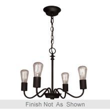 View Product - Vintage 4 Light Brushed Nickel Chandelier