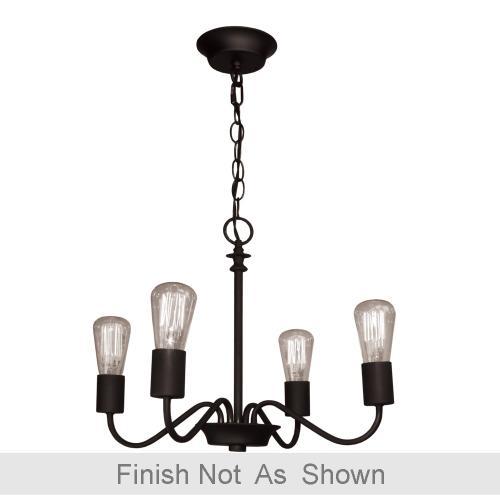 Artcraft - Vintage 4 Light Brushed Nickel Chandelier