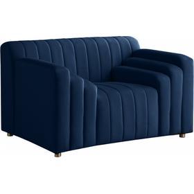 "Naya Velvet Chair - 51.5"" W x 35.5"" D x 28.5"" H"