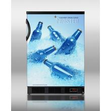 Commercially Approved Beer Froster In Black With Frost-free Operation, Designed To Keep Bottled Beer At 24f
