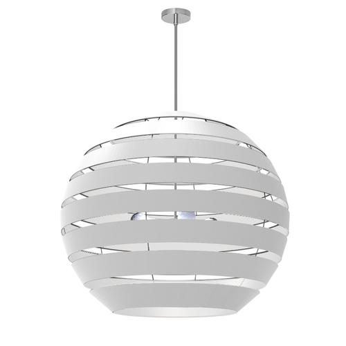 4lt Chandelier Pc, Wh Shade