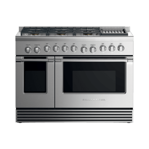 "Fisher & PaykelGas Range, 48"", 6 Burners with Grill, LPG"