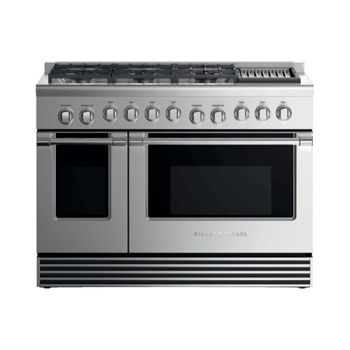 "Gas Range, 48"", 6 Burners with Grill, LPG"