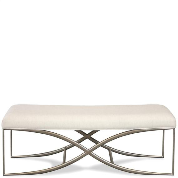 Riverside - Maisie - Upholstered Bed Bench - Champagne Finish
