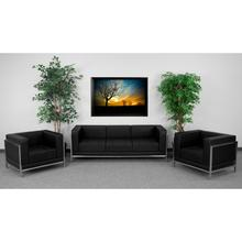 See Details - HERCULES Imagination Series Black LeatherSoft Sofa & Chair Set
