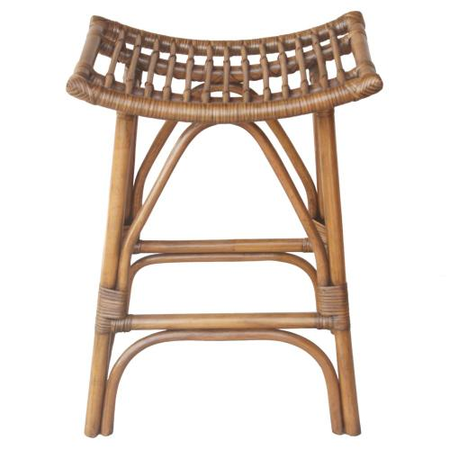 Imari Rattan Counter Stool, Canary Brown Black Washed