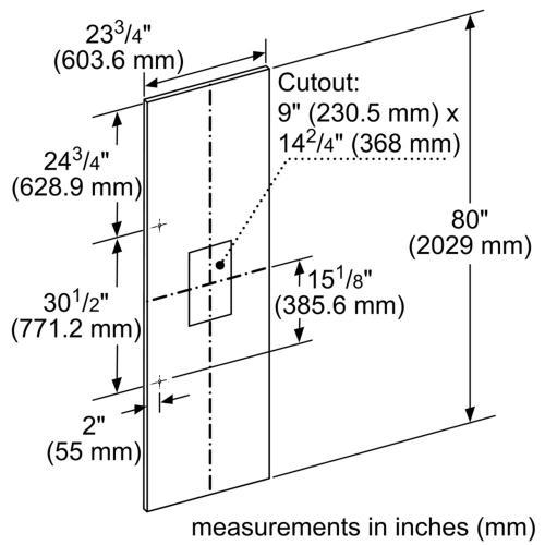 """24"""" Stainless Steel Panel for External Dispenser - Flat TFL24ID800"""