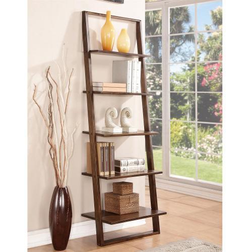 Riverside - Lean Living - Leaning Bookcase - Burnished Brownstone Finish