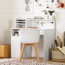 Craft Table with Hutch - Pure White