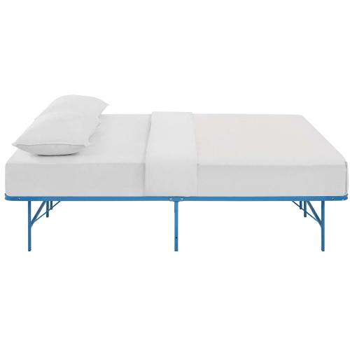 Horizon Queen Stainless Steel Bed Frame in Light Blue