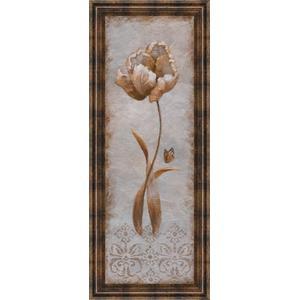 """""""Tulip & Butterfly Il"""" By Nan Framed Print Wall Art"""