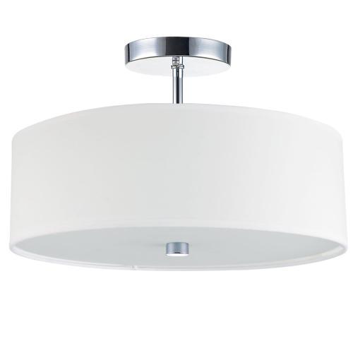 Product Image - 3lt Incandescent Semi-flush PC W/ White Shade