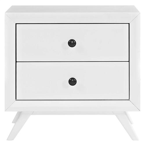Tracy Nightstand in White