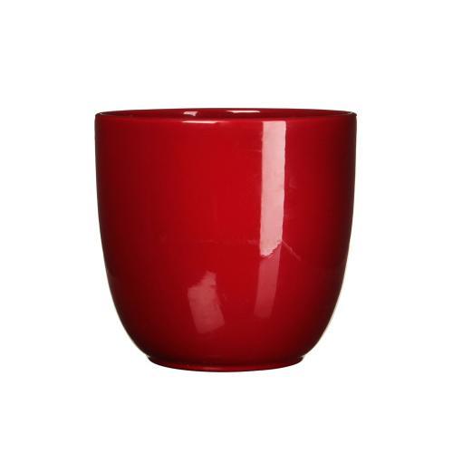 Tusca Round Planter Gloss Red (min.8pcs)