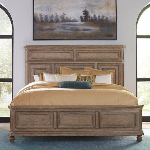 Liberty Furniture Industries - King California Panel Bed, Dresser & Mirror, Chest, Night Stand
