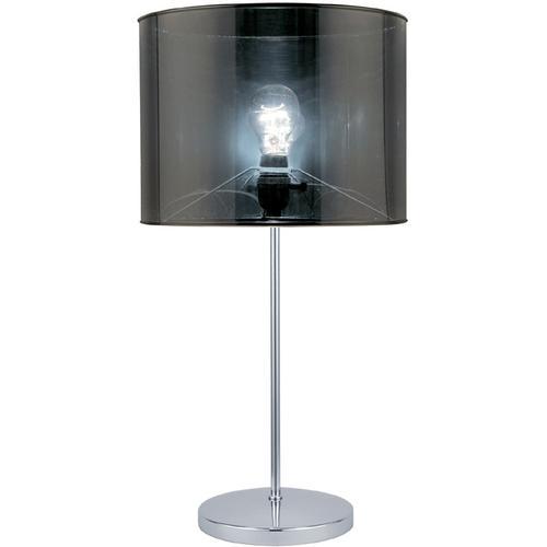 Table Lamp, Chrome/translucent Vinyl Shade, E27 Type A 60w