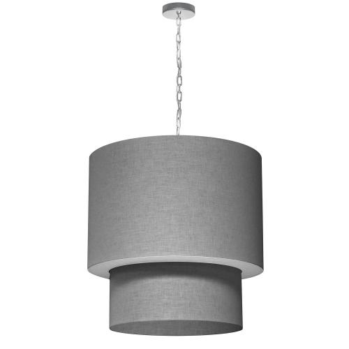 Product Image - 5lt 2tier Drum Lam Linen Grey W/ Fabric Diff