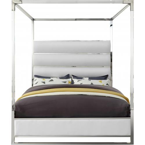 """Encore Faux Leather Bed - 80.5"""" W x 84.5"""" D x 79"""" H"""
