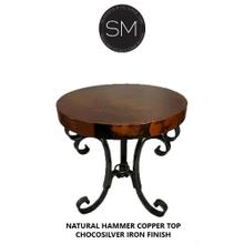 Hammer Copper Small Occasional Table