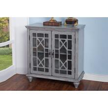 Marceline 2-Door Accent Chest in Vintage Grey Finish