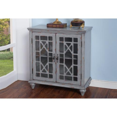 New Classic Furniture - Marceline 2-Door Accent Chest in Vintage Grey Finish