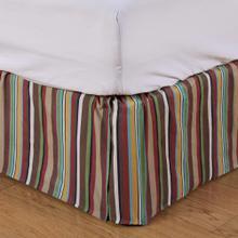 See Details - Tammy Multicolor Stripe Bed Skirt - Full