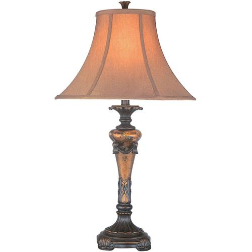 Table Lamp -oil Rubbed Brz/fabric Shade, E27 Type A 150w