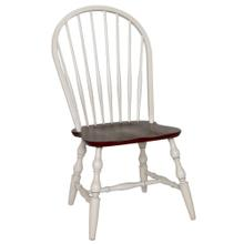 Product Image - Windsor Spindleback Dining Chairs - Antique White w/Chestnut Seat (Set of 2)