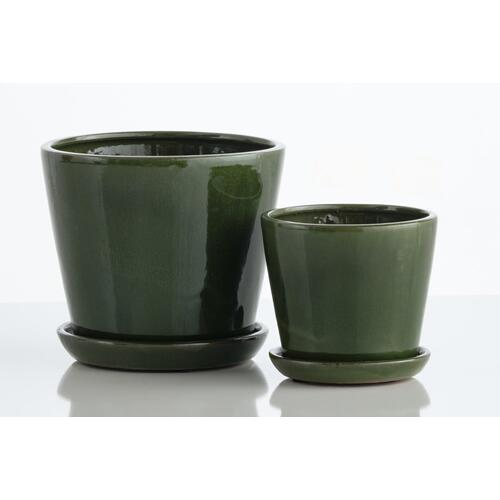 Patrice Petits Pots w/ attached saucer, Set of 2