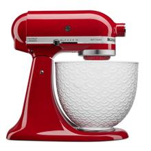 Artisan® Series Tilt-Head Stand Mixer with White Mermaid Lace Bowl - Empire Red