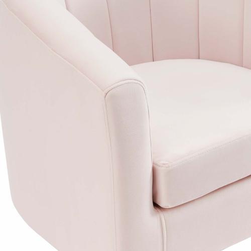 Prospect Channel Tufted Performance Velvet Armchair in Pink