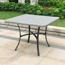 Barcelona Resin Wicker/ Aluminum 39-inch Square Outdoor Dining Table - Grey