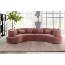 Majestic Blush Fabric Upholstered Sectional Sofa