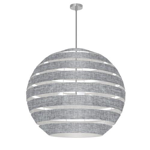Product Image - 4lt Chandelier Pc, Lam Camelot Gry Shade