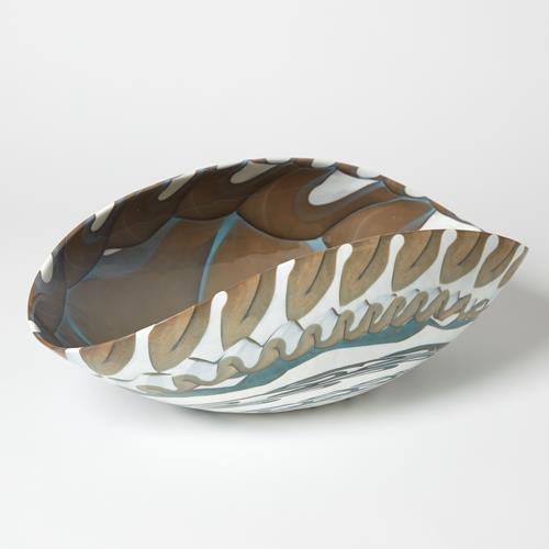 Ivory Amber Oval Bowl-Sm