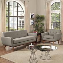 Engage Armchair and Loveseat Set of 2 in Granite