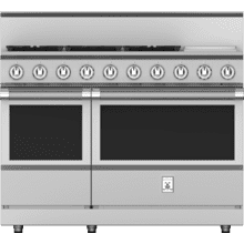 """See Details - 48"""" 5-Burner All Gas Range with 12"""" Griddle - KRG Series - Steeletto"""