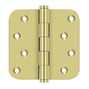 "Deltana - 4"" x 4"" x 5/8"" Radius Hinge / Zig-Zag - Polished Brass"