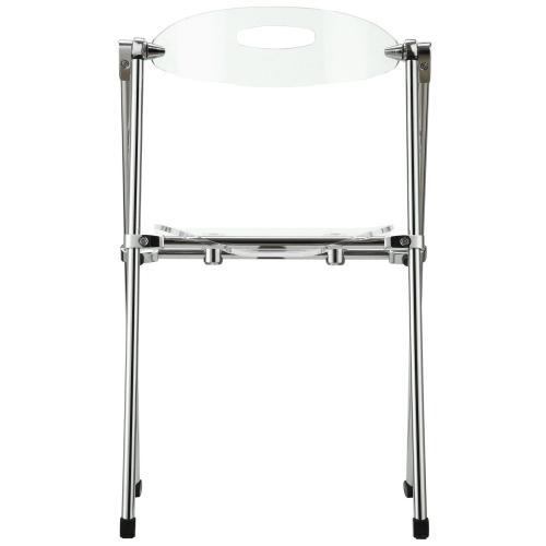 Telescope Folding Chair in Clear