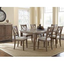 Franco 7 Piece White Marble Top Set(Table & 6 Side Chairs)