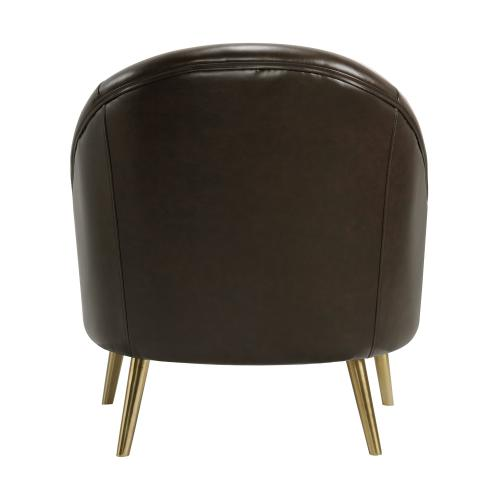 Trinity Chair with Gold Legs In Phoenix Brown