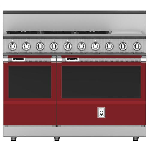"48"" 5-Burner Dual Fuel Range with 12"" Griddle - KRD Series - Tin-roof"