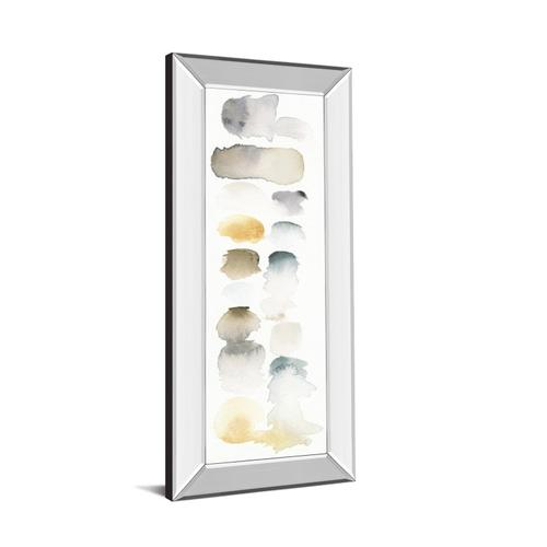 """Classy Art - """"Watercolor Swatch Panel Neutral I"""" By Elyse De Neige Mirror Framed Print Wall Art"""